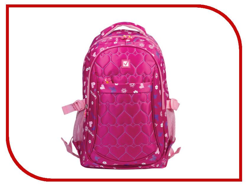 Рюкзак BRAUBERG Сердечки Red 227074 brauberg brauberg рюкзак универсальный омега розовый