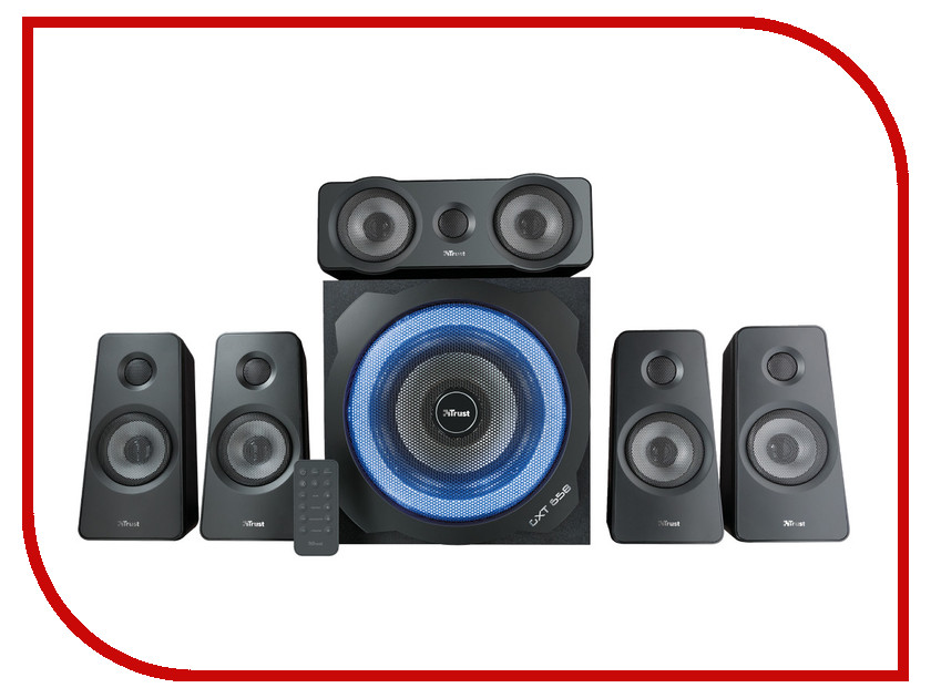 Колонка Trust Gxt 658 Tytan 5.1 Surround Speaker System 21738 аксессуар trust gxt 220 nb cooling stand 20159