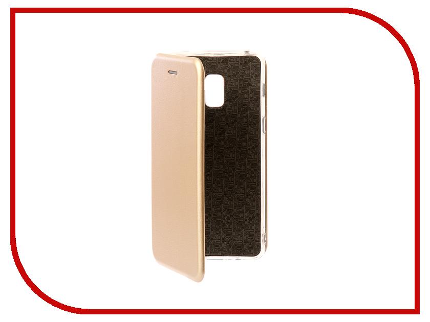цена на Аксессуар Чехол Samsung Galaxy A8 Plus A730F 2018 Zibelino Book Gold ZB-SAM-A730-GLD