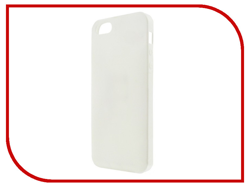 Аксессуар Чехол для APPLE iPhone 5 / 5S Krutoff White 10759 дисплей monitor lcd for iphone 5s white