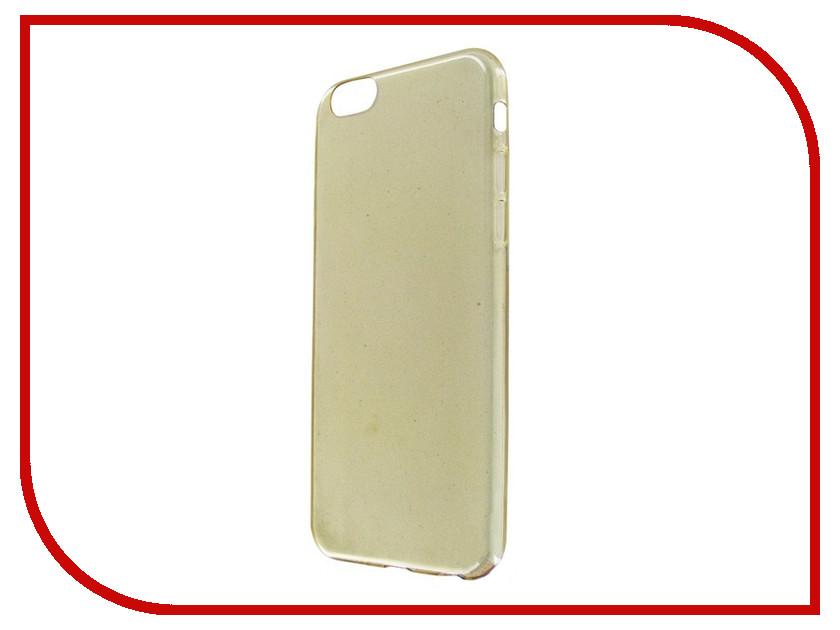 Аксессуар Чехол Krutoff для APPLE iPhone 6 / 6S Transparent-Gold 10674 аксессуар чехол krutoff для apple iphone 5 5s white 10759