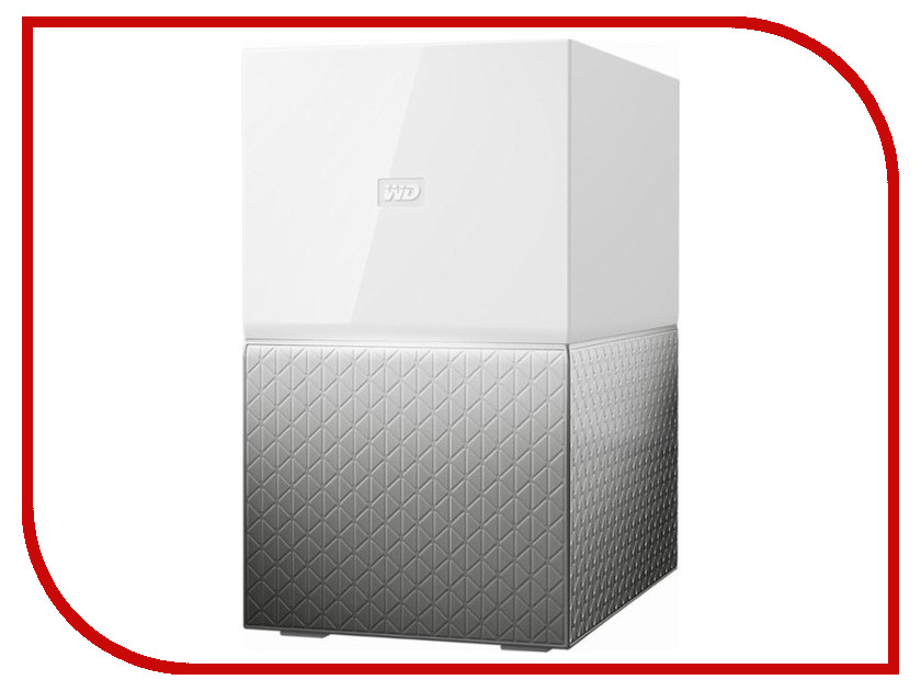 Сетевое хранилище Western Digital My Cloud Home Duo 6Tb WDBMUT0060JWT-EESN сетевое хранилище western digital my cloud home 4tb wdbvxc0040hwt eesn