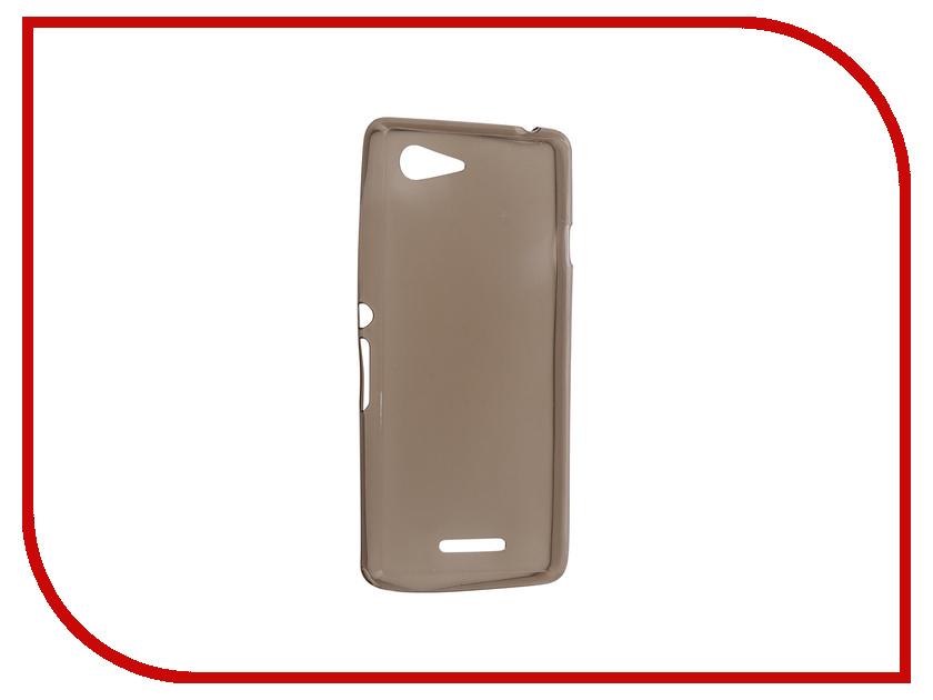 Аксессуар Чехол Sony Xperia E3 Krutoff Transparent Black 11530 чехол для для мобильных телефонов for sony xperia e3 sony xperia e3 sony xperia e3 d2203 d2206