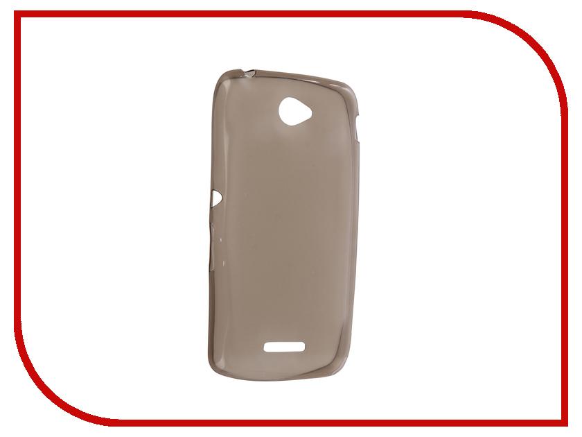 цена на Аксессуар Чехол Sony Xperia E4 Krutoff Transparent Black 11532