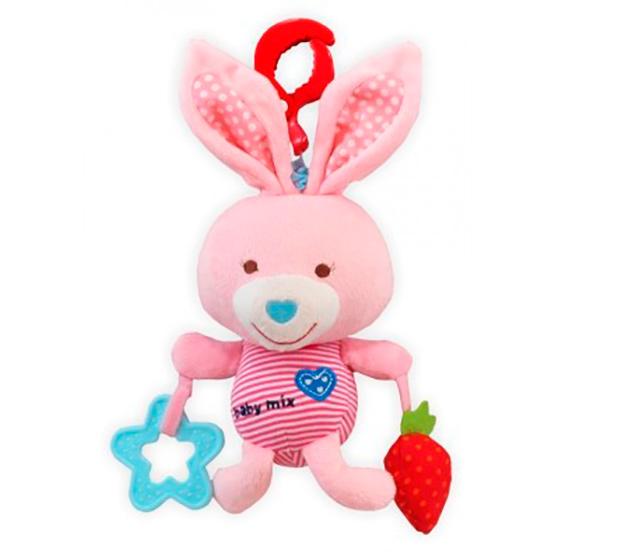 Игрушка Baby Mix Зайчик Pink 1128 baby mix игрушка подвеска обезъянка tina