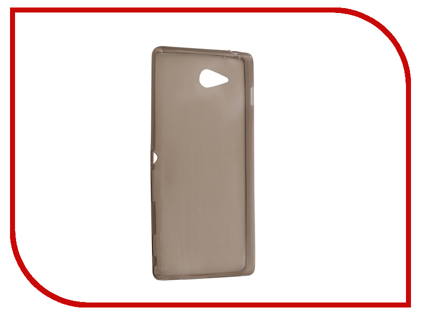 Аксессуар Чехол Sony Xperia M2 Krutoff Transparent Black 11534 high quality for sony xperia m2 aqua