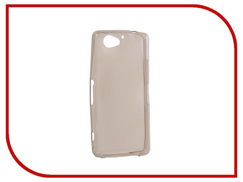 Аксессуар Чехол для Sony Xperia Z2 Compact Krutoff Transparent Black 11548