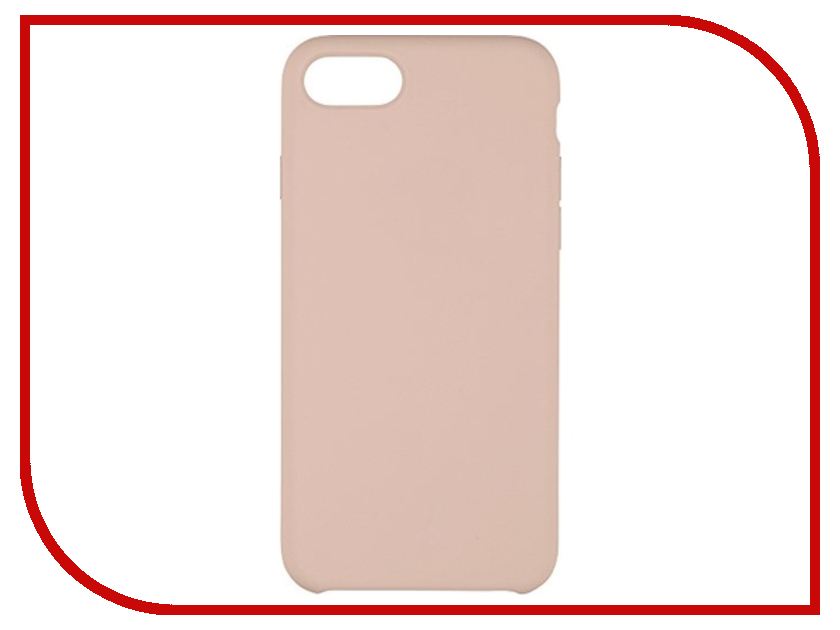 Аксессуар Чехол для APPLE iPhone 7 / 8 Krutoff Silicone Case Pink Sand 10746 чехол для apple iphone 8 7 plus silicone case pink sand