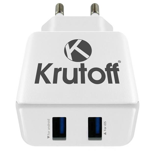 Зарядное устройство Krutoff CH-03 2xUSB 2.1A 2172