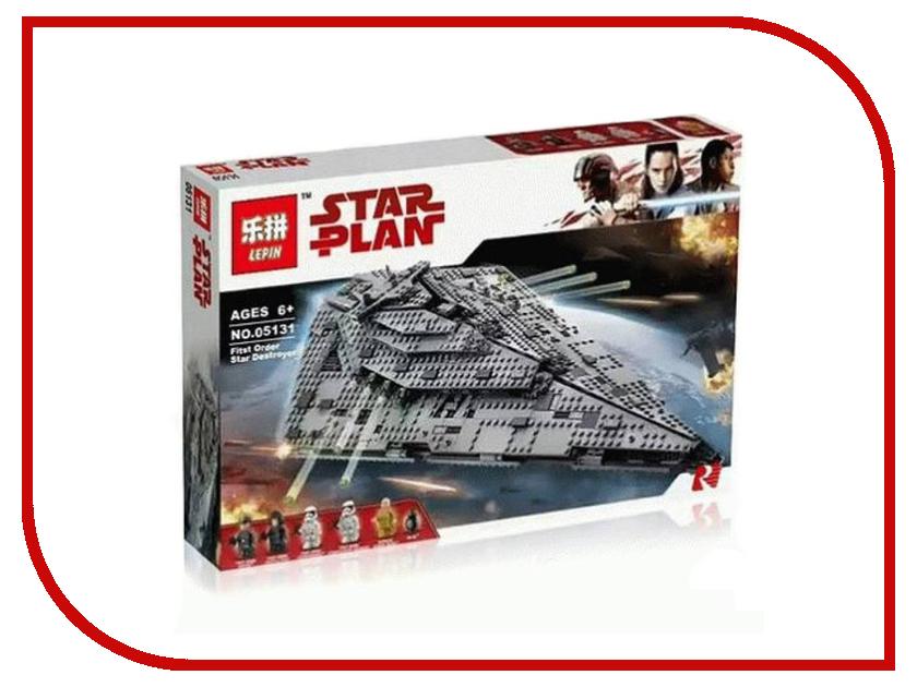Конструктор Lepin Star Wars Звездный разрушитель первого ордена 1585 дет. 05131 конструктор lepin star plan стрела 800 дет 05113