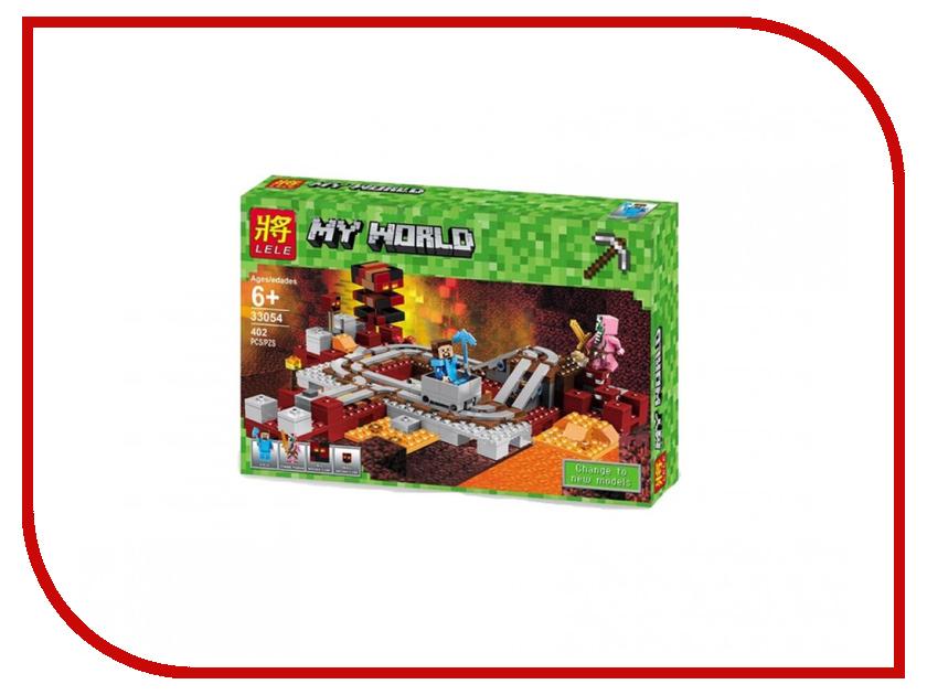Конструктор Lepin Minecraft Подземная железная дорога 402 дет. 18024 конструктор lepin fairytale сказочный замок спящей красавицы 360 дет 25012