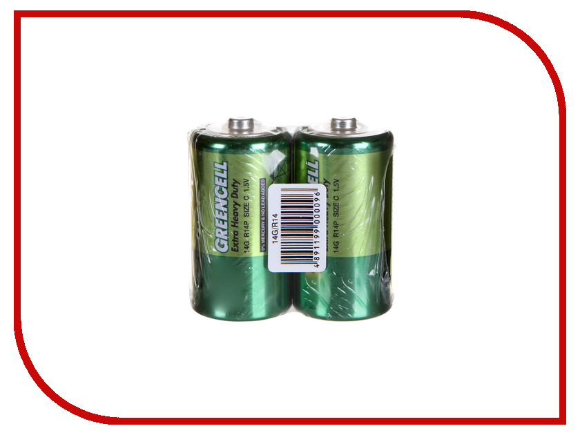 Батарейка C - GP R14 Greencell 14G-2S2 lacywear dg 42 gp