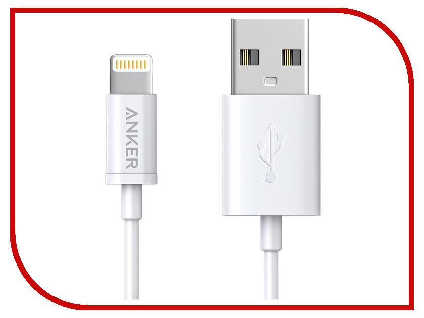 Аксессуар Anker USB - Lightning MFI 1.8m White A7122G21 аксессуар aukey cb al1 usb lightning mfi 1 2m red llts148179