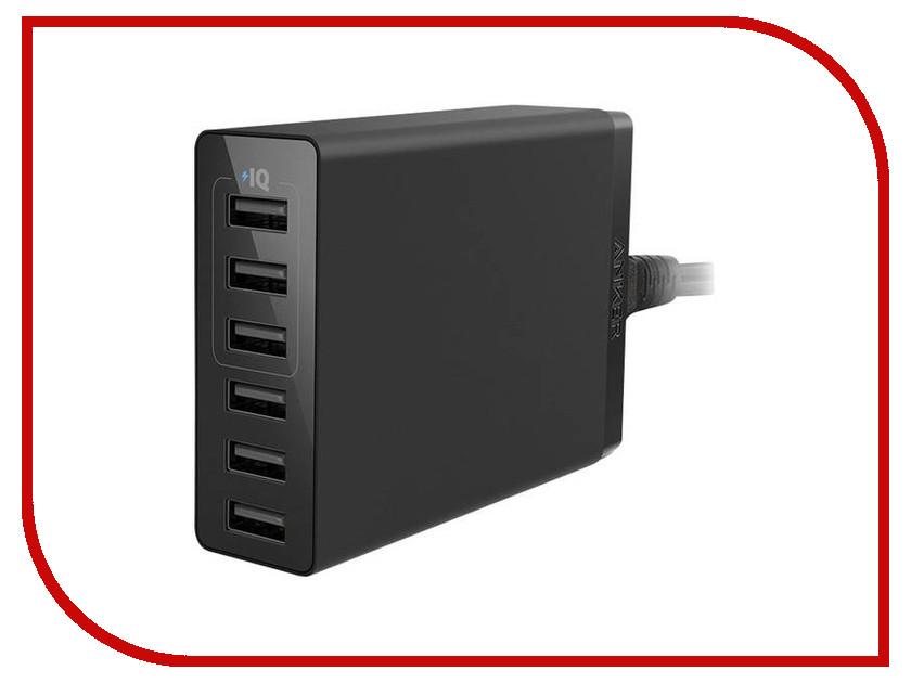 Зарядное устройство Anker PowerPort 6 Lite 30W EU Black A2061311 автошампунь hi gear д бесконтактной мойки 1л page 5