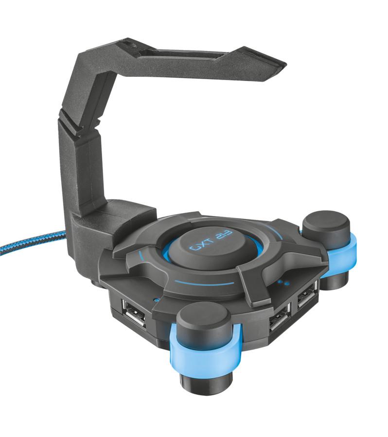Хаб Trust GXT 213 + держатель провода для мышки 20816 trust gxt 160 ture 22332