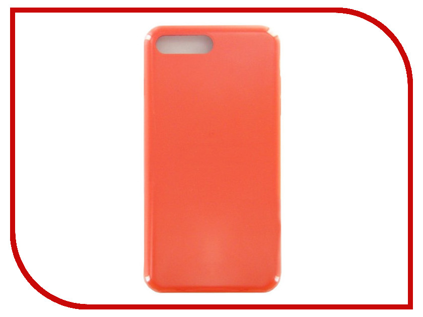 Аксессуар Чехол Krutoff для APPLE iPhone 7 / 8 Plus Silicone Case Orange 10796 roar korea noble leather stand view window case for iphone 7 4 7 inch orange