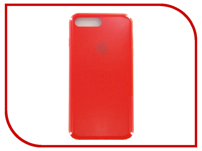 Аксессуар Чехол для APPLE iPhone 7 / 8 Plus Krutoff Silicone Case Red 10775 аксессуар чехол mamba case zephyr для apple iphone 7 8