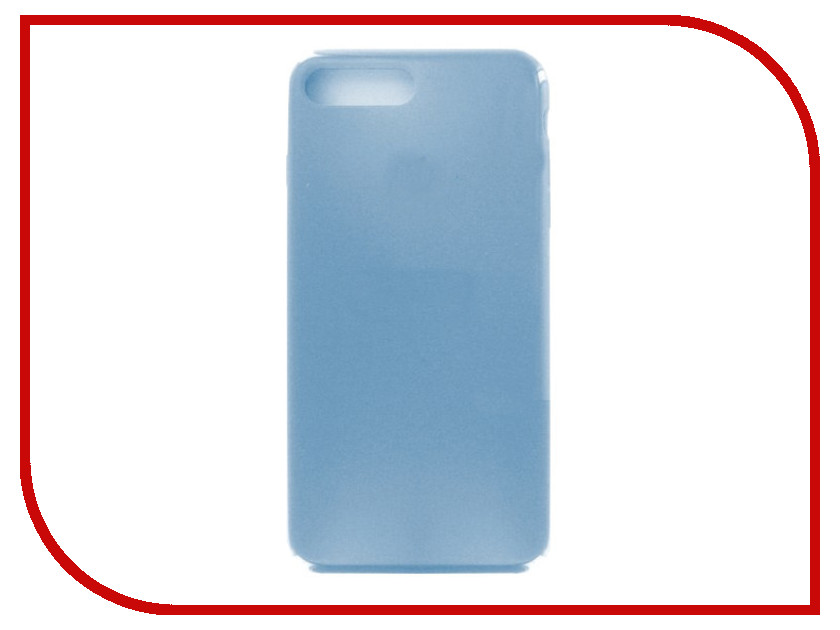 Аксессуар Чехол Krutoff для APPLE iPhone 7 / 8 Plus Silicone Case Royal Blue 10797 аксессуар чехол elari для elari cardphone и iphone 6 plus blue
