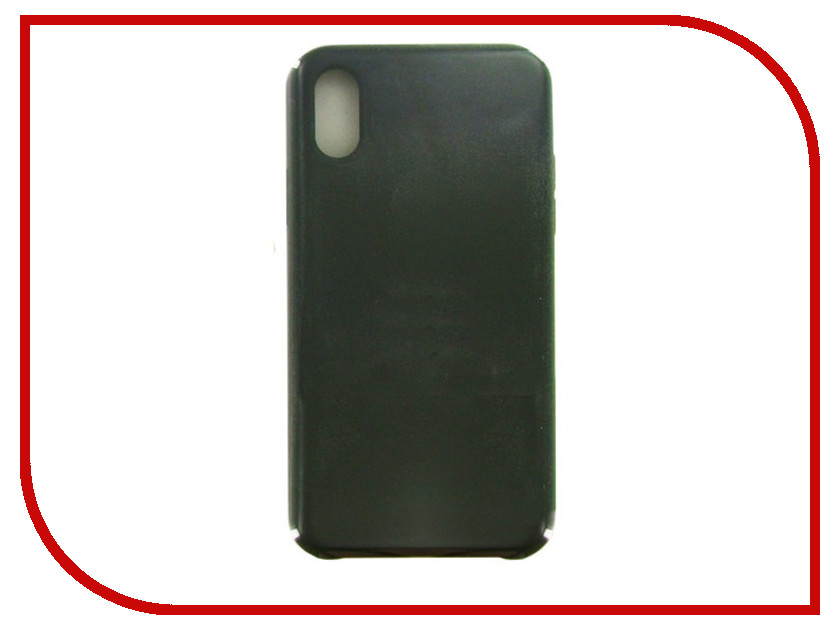 Аксессуар Чехол Krutoff для APPLE iPhone X Silicone Case Charcoal Gray 10801