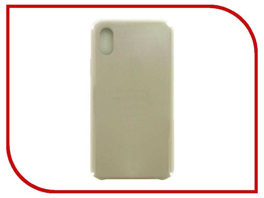 Фото - Аксессуар Чехол Krutoff для APPLE iPhone X Silicone Case Gray 10820 аксессуар чехол apple iphone x krutoff leather folio dark aubergine 10826