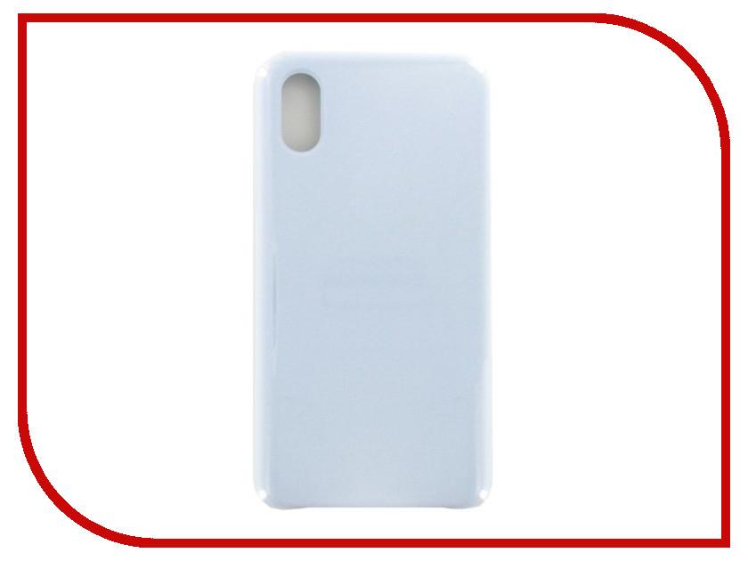 Фото - Аксессуар Чехол Krutoff для APPLE iPhone X Silicone Case Light Blue 10811 аксессуар чехол apple iphone x krutoff leather folio midnight blue 10830