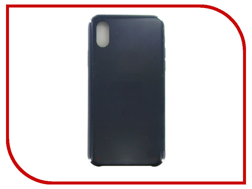 Аксессуар Чехол Krutoff для APPLE iPhone X Silicone Case Midnight Blue 10810 чехол для iphone apple iphone x silicone case midnight blue mqt32zm a