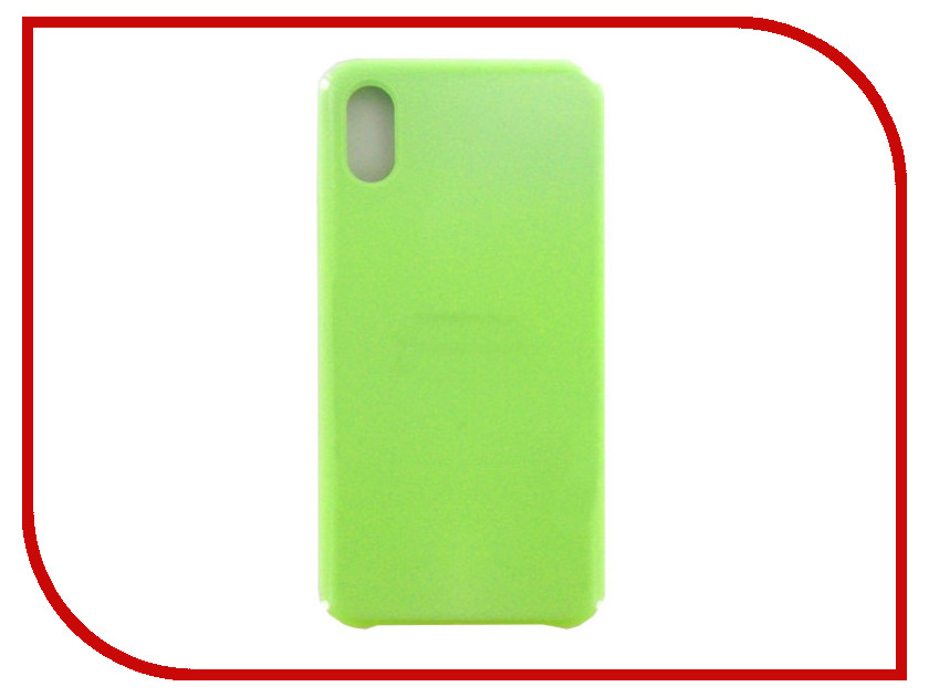 Аксессуар Чехол Krutoff для APPLE iPhone X Silicone Case Mint 10814