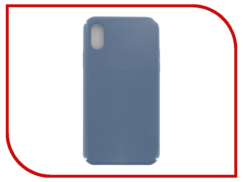 Аксессуар Чехол Krutoff для APPLE iPhone X Silicone Case Ocean Blue 10821