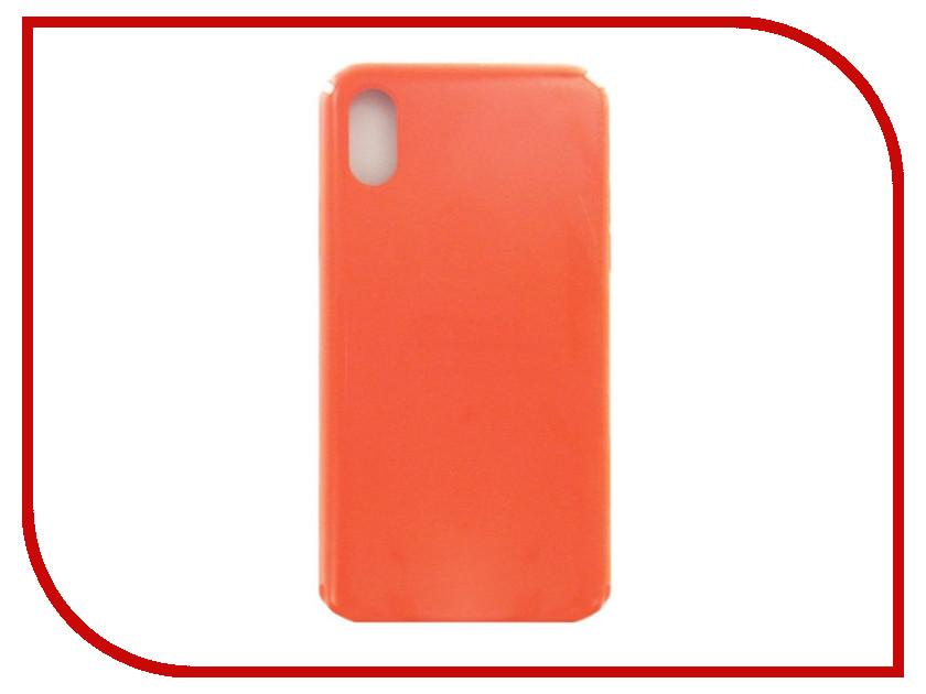 Аксессуар Чехол Krutoff для APPLE iPhone X Silicone Case Orange 10800