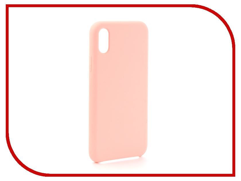 Аксессуар Чехол для APPLE iPhone X Krutoff Silicone Case Pink Sand 10817 чехол для apple iphone 8 7 plus silicone case pink sand
