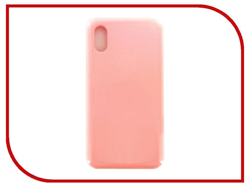 Аксессуар Чехол Krutoff для APPLE iPhone X Silicone Case Pink 10816
