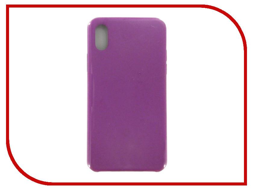 Аксессуар Чехол Krutoff для APPLE iPhone X Silicone Case Purple 10822