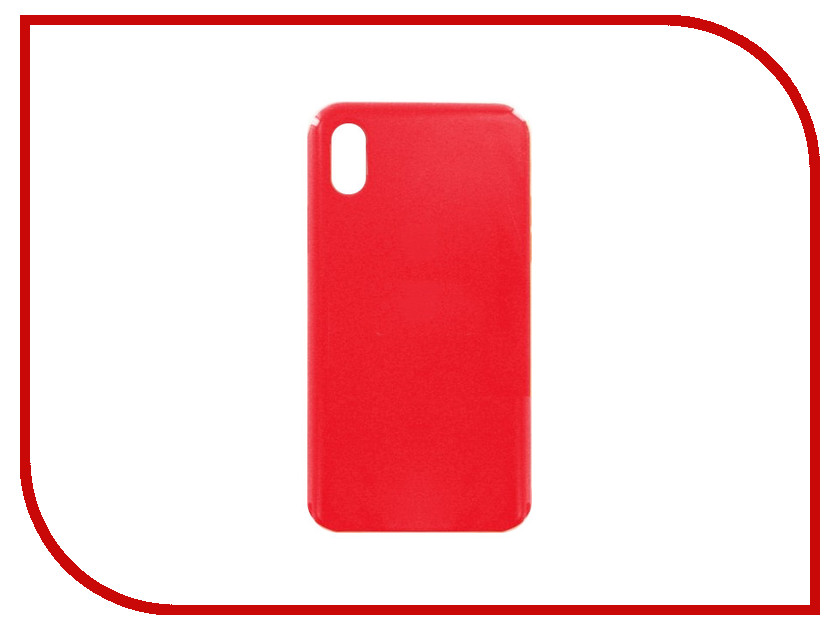 Аксессуар Чехол для APPLE iPhone X Krutoff Silicone Case Red 10818 аксессуар чехол krutoff leather case для iphone 6 6s black 10750