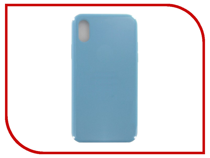 Аксессуар Чехол Krutoff для APPLE iPhone X Silicone Case Royal Blue 10815