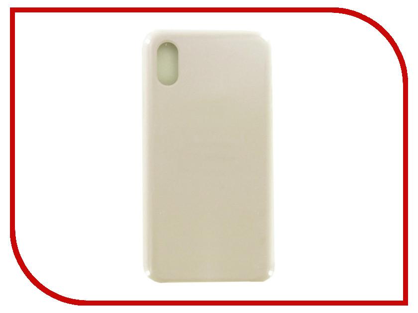 Аксессуар Чехол Krutoff для APPLE iPhone X Silicone Case Stone 10819