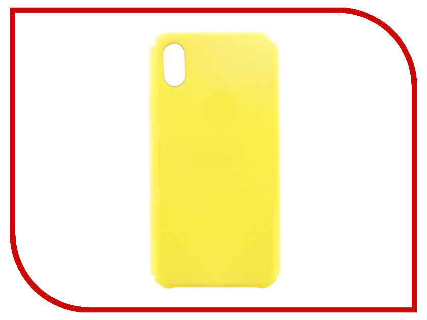 Фото - Аксессуар Чехол Krutoff для APPLE iPhone X Silicone Case Yellow 10808 аксессуар чехол apple iphone x krutoff leather folio pink 10834