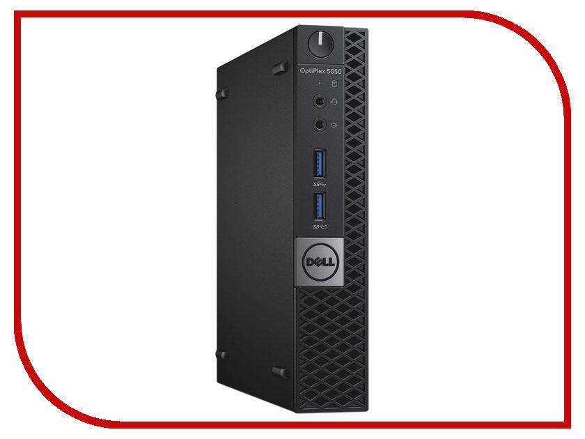 Настольный компьютер Dell Optiplex 5050 Micro Black 5050-8312 (Intel Core i5-7500T 2.7 GHz/8192Mb/500Gb/Intel HD Graphics/Wi-Fi/Bluetooth/Windows 10 Pro 64-bit)