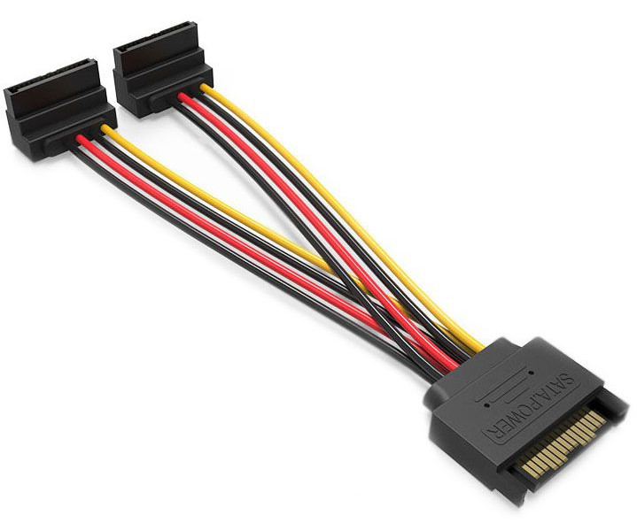 Аксессуар Кабель Vention SATA 15-pin/M - 2x 15-pin/F 15cm KDBBB