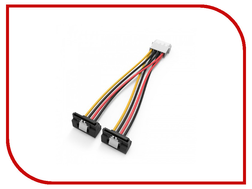 Аксессуар Кабель Vention Molex 4-pin/M - 2x SATA 15-pin/F 15cm KDCBB sata 22 pin male to micro sata 16 pin female adapter