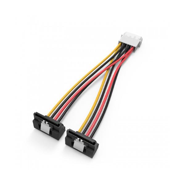 цена на Аксессуар Кабель Vention Molex 4-pin/M - 2x SATA 15-pin/F 15cm KDCBB