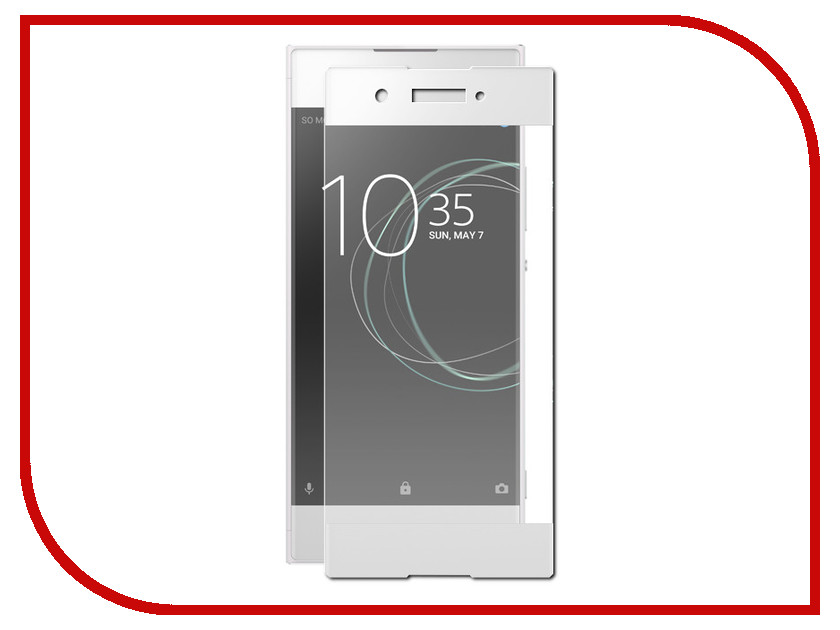 Аксессуар Защитное стекло Sony Xperia XA1 Onext 3D White 41314 защитное стекло для sony g3212 xperia xa1 ultra onext 3d на весь экран с белой рамкой