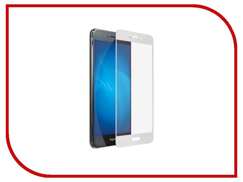 Аксессуар Защитное стекло Huawei Honor 8 Lite Onext с рамкой White 41428 аксессуар защитное стекло huawei p8 lite 2017 onext eco 43145