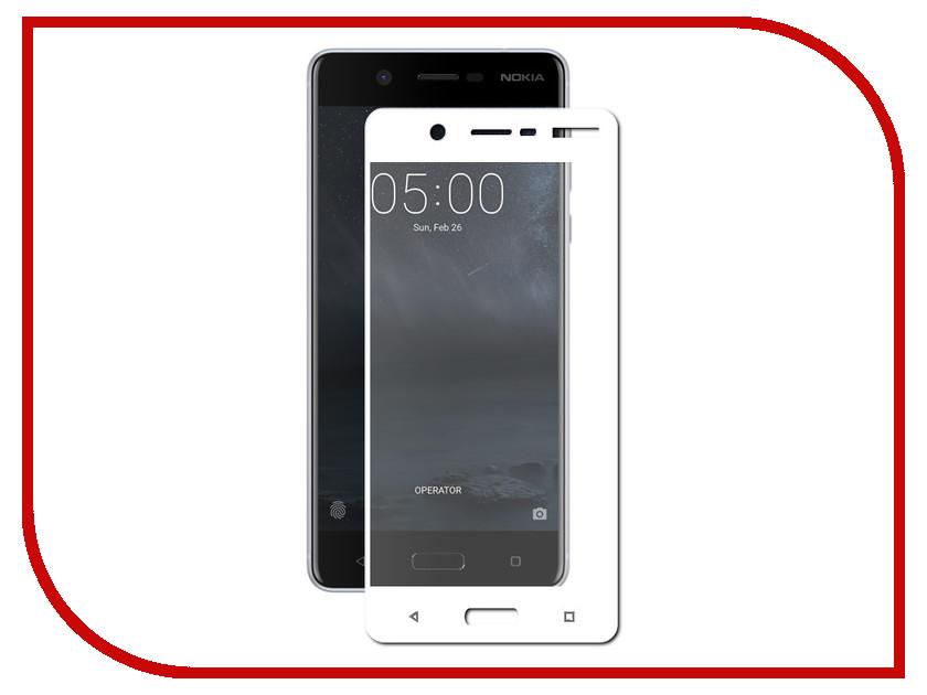 Аксессуар Защитное стекло Nokia 5 Onext с рамкой White 41454 защитные стекла liberty project защитное стекло lp для nokia 630 tempered glass 0 33 мм 9h ударопрочное