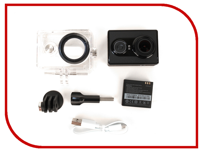 Экшн-камера Yi Action Camera Basic Edition Waterproof Case Kit Black f88 action camera red