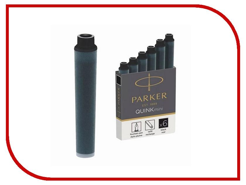 Картриджи чернильные Parker Cartridge Quink Mini 6шт Black 1950407 картриджи для электронных сигарет subtank kanger mini diy 0 5