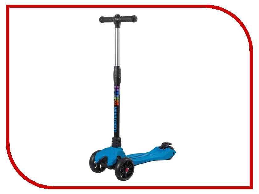Самокат Novatrack RainBow Blue 120W.RAINBOW.BL8 велосипед novatrack boister 12 2015 blue 125boister bl5