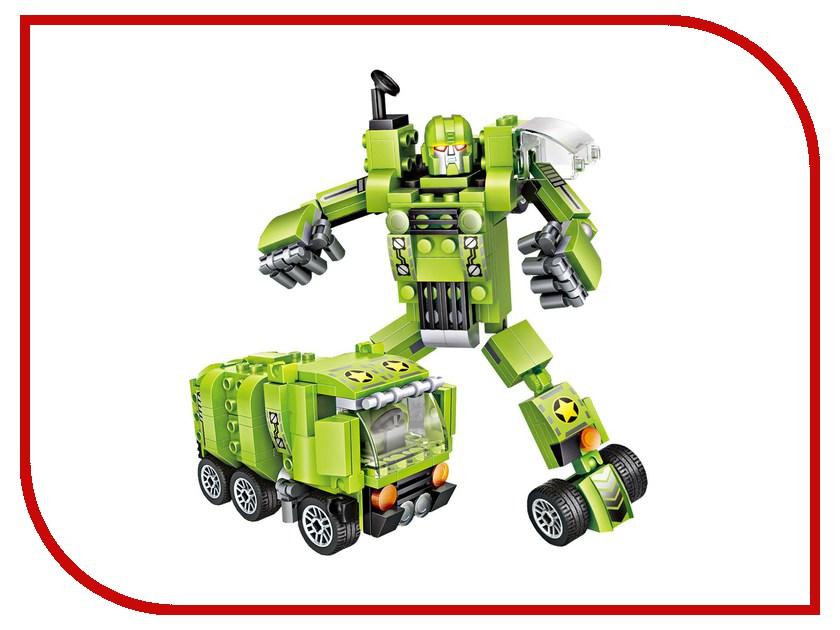 Конструктор LoZ Робот трансформер 179 дет. Green LZ1835 робот трансформер mengbadi 106 blue