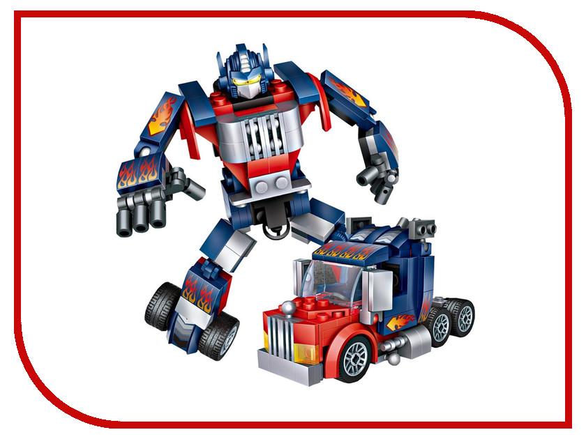 Конструктор LoZ Робот трансформер 158 дет. Blue-Red LZ1836 конструктор 4м робот барабанщик 00 03372