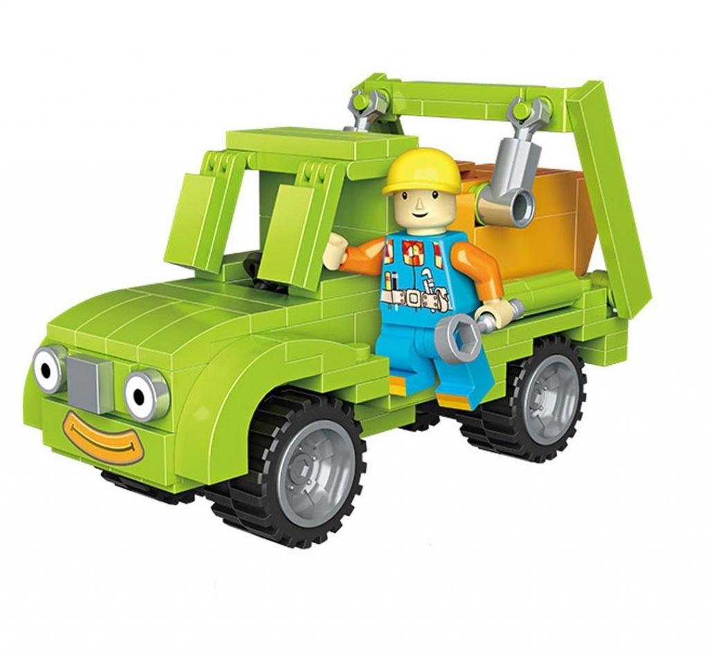 Конструктор LoZ Транспорт машинка + персонаж 168 дет. LZ1513 цена в Москве и Питере