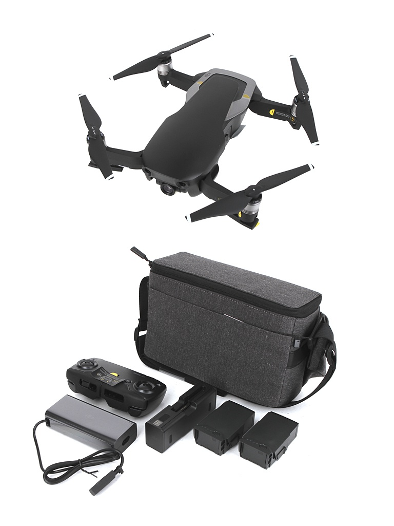 Квадрокоптер DJI Mavic Air Fly More Combo Onyx Black квадрокоптер dji mavic air с камерой черный